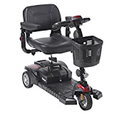 Drive Medical Scout DST 3-Wheel Travel Scooter, Red and Blue