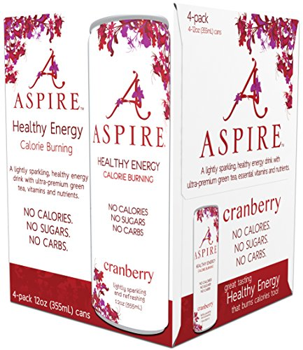 Aspire Healthy Energy  Calorie Burning  Zero Calorie Zero Sugar Drink 4 Pack Cranberry