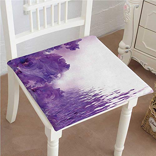 Flower Iris Petals Against The Water River al Magical Indoor Garden Patio Home Kitchen Office Chair Pads Seat Pads 22