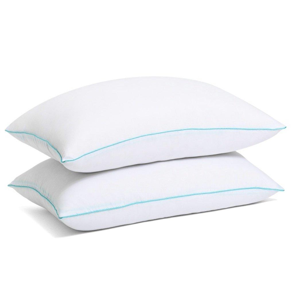 SLEEPY FOLKS Pillow - Pillows for Sleeping - Hypoallergenic Pillow 2 Pack - Queen Standard Bed Pillow Set of 2 - Cool Sleeping Best Pillow - Down Alternative Hotel Pillow - Medium Soft Firm Pillow