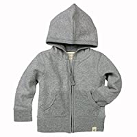 Burt's Bees Baby - Loose Pique Hoodie, 100% Organic Cotton, Heather Grey Loos...