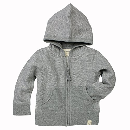 Jumper Heather - Burt's Bees Baby Unisex Baby Sweatshirt, Zip-up Hoodies & Pullover Sweaters, Heather Grey Loose Pique, 6-9 Months
