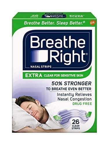 Breathe Rite Strips - Breathe Right Extra Clear for Sensitive Skin, 104 Count (avtp52)