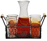 Circleware Ranch Rooster 8-Piece Glassware