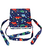 Baby Booster Cushion Kids Booster Seat for Table Dining Chair Adjustable Booster Seat Pad With Straps Lovely Animal Pattern Washable Chair Increasing Cushion