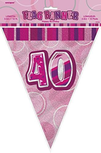 Birthday Garland 40 Pink