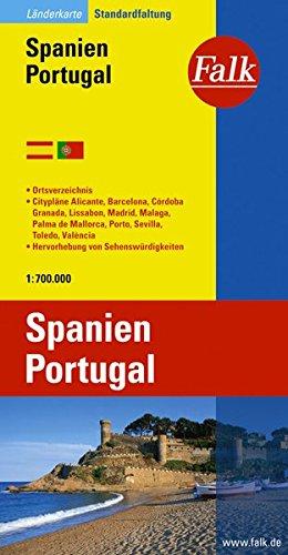 Falk Länderkarte Spanien / Portugal 1:750 000