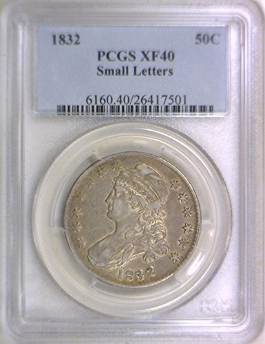 (1832 0 Early Half Dollars XF-40 PCGS)