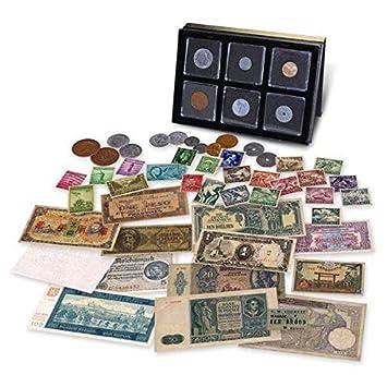 IMPACTO COLECCIONABLES Segunda Guerra Mundial - 14 Billetes, 6 Monedas y 23 Sellos Originales 1939-1945: Amazon.es: Juguetes y juegos