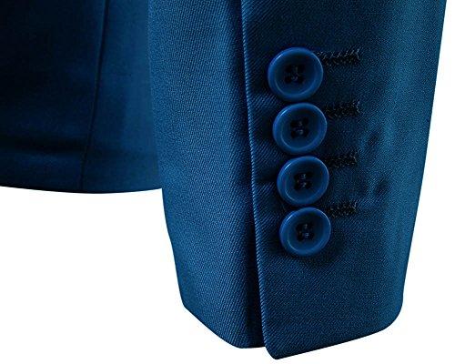 Elegante Blaze Di Fit Button Casual Slim Cappotto Giacca Vestito Mare Blu Affari One Dianshao Uomo 14xRg