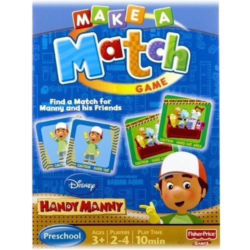 Make a Match Disney Handy Manny Maching Game
