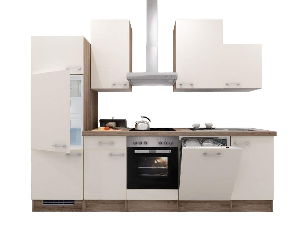 Smart Möbel Magnolie/Tennessee - Bloque de Cocina (280 cm ...