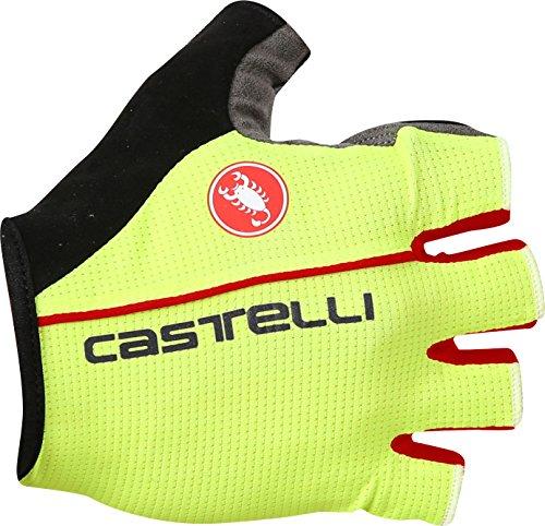 Castelli Circuito Glove - Men's Yellow Fluo/Red, L ()