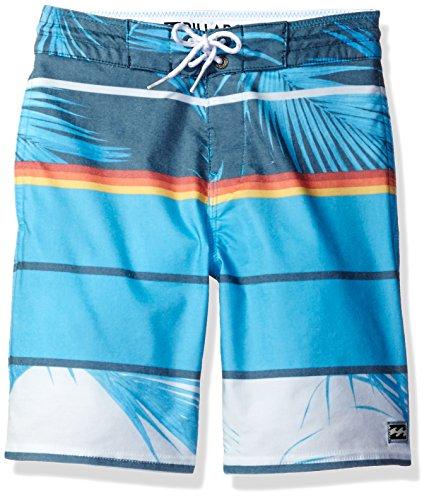 Billabong Big Boys' Lo Tide Stretch Boardshorts, Blue Spinner, 26 -