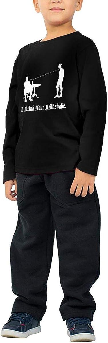 WZMD I Drink Your Milkshake Childrens Long Sleeve T-Shirt for Boys Girls