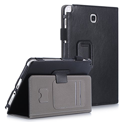 FYY Case for Galaxy Tab A 8.0 - Ultra Slim Magnetic Smart Cover Case for Samsung Galaxy Tab A 8.0 (P350/T350)(2015 Released) Black (Galaxy Tab S 8-4 Cases And Covers)
