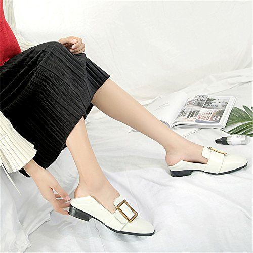 Scarpe Da Head Shoes Buckle Casual Wear C Career Dress Belt Heel Office Square Donna Per Ladies Due Low amp; tFwqrtd