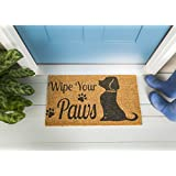 Evergreen Flag 2RM270 Wipe Your Paws Dog Coir Mat, Multi-Colored