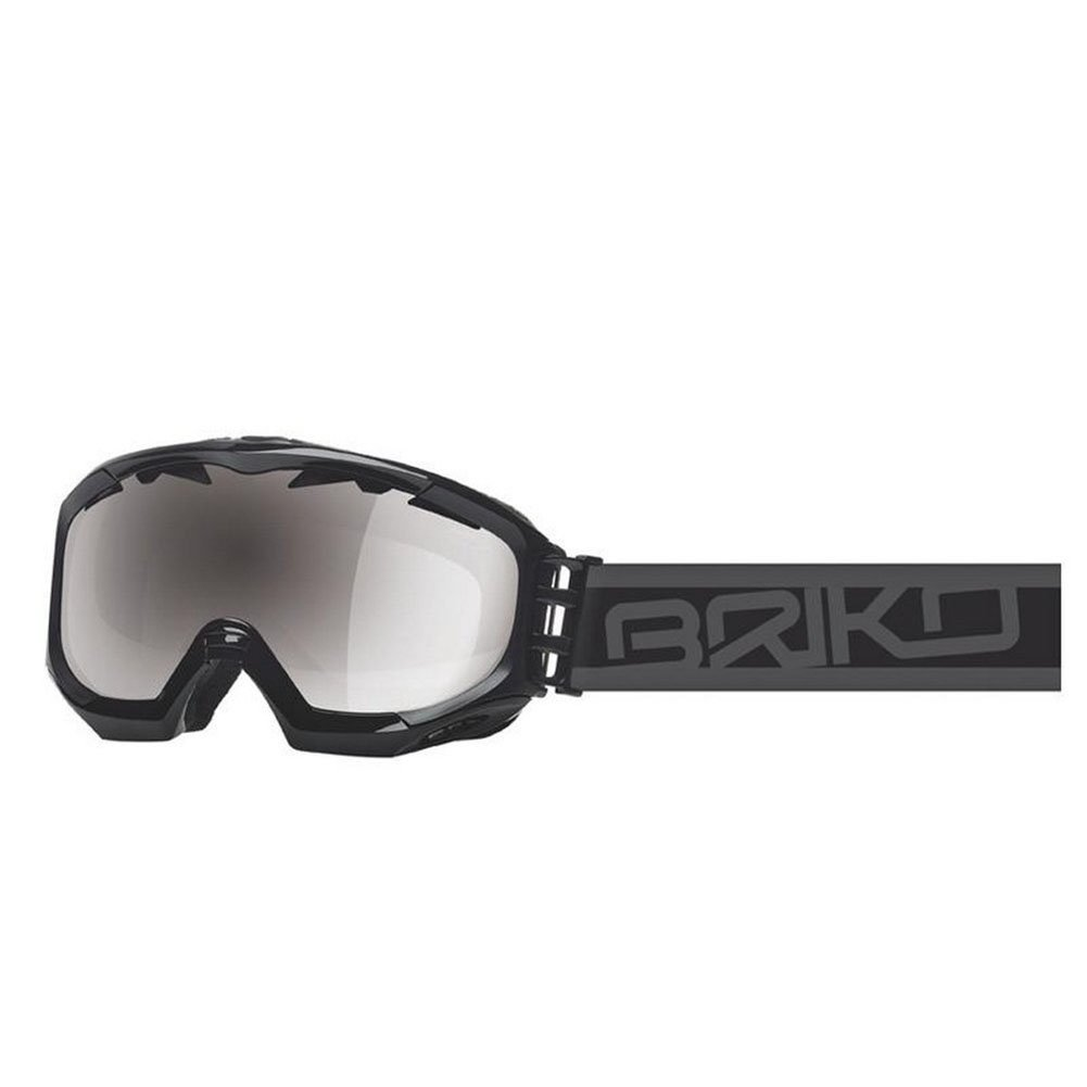 Briko Kombat Evo Shiny Black/Matt Black Metal Silver Lens Goggle Made in Italy