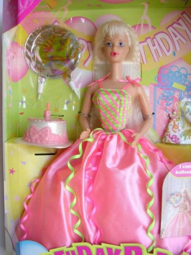 Barbie Birthday Party Doll Can Blow up Party Favors and Blow Out Birthday Candle -