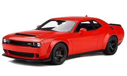 Amazon Com 2018 Dodge Challenger Srt Demon Tor Red With Black