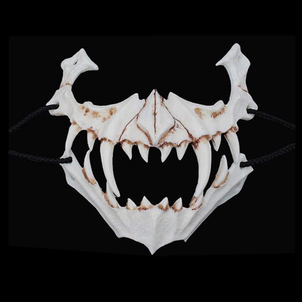 Neborn Maschera in Resina Cosplay La Maschera del Dio Drago Giapponese Maschera in Lattice Ecologica e Naturale per la Maschera per Animali da Festa a Tema Animale