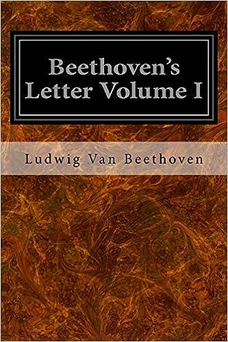 Book Beethoven's Letter Volume I: 1