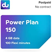 du Postpaid Power Plan 150 SIM Card with 4 GB Data and 100 Flexible Minutes - No Contract