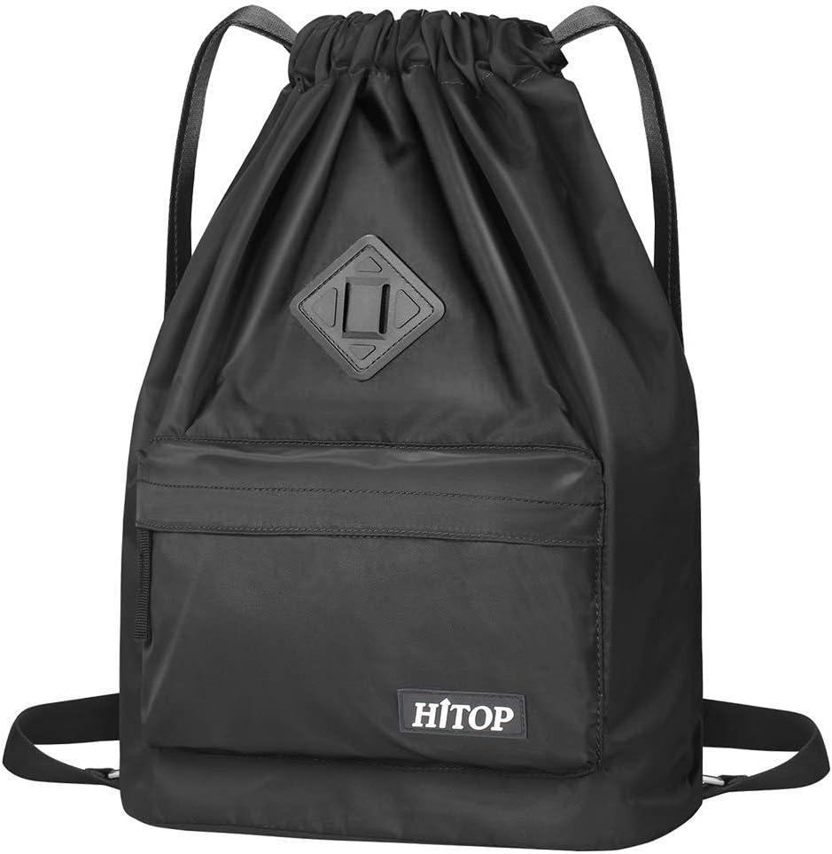 HITOP - Bolsa deportiva de cordón, ligera, unisex; mochila saco, mochila para hombre y mujer., negro: Amazon.es: Deportes y aire libre