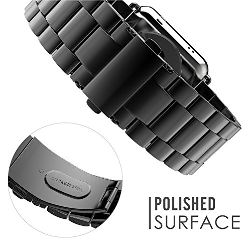 LoveBlue for Gear Sport Bands,Gear Sport SM-600 Stainless Steel 20mm Band Replacement for Samsung Gear Sport SM-600 Smart Watch(Black) Photo #4