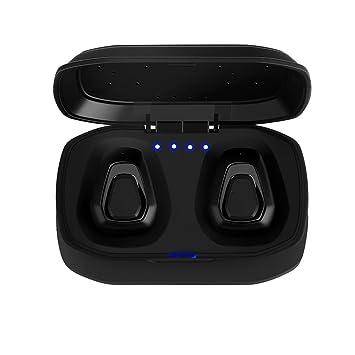 FORNORM Auricular Bluetooth, Auriculares Inalámbricos Verdaderos Audífonos Sonido Estéreo Reducción de Ruido con Muelle de Carga, Una Operación Clave por ...