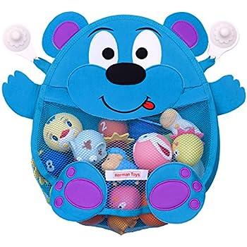 Marvelous This Item Herman Bear Baby Bath Toy Organizer   Toddler Bath Tub Toy  Storage Holder   Bathroom Toy Net Bag + Heavy Duty Suction Cups, Blue