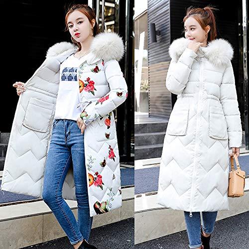 manica Amuster un Women in bianco lunga in cappotto Cotton Down rtt1qp