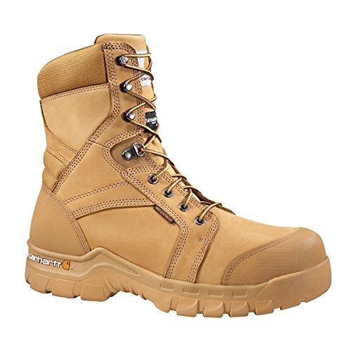 Boots 400g Waterproof Insulated (Carhartt Footwear CMF8058 Rugged Flex 8-Inch Waterproof Insulated Work - 8 ½ W - Wheat)