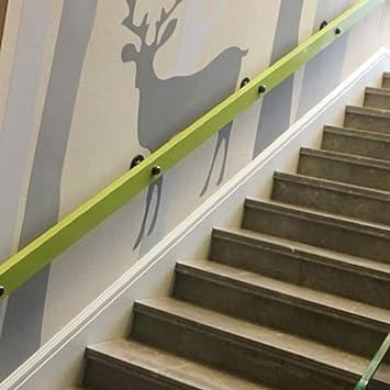 Pasamanos de madera, suelo de techo interior, barandilla para escaleras, contra la pared, moderno pasamanos DIY para el uso en hospitales, jardines, pasillos, recto (tamaños especiales disponibles), madera, 50cm/1.6ft: Amazon.es: Hogar