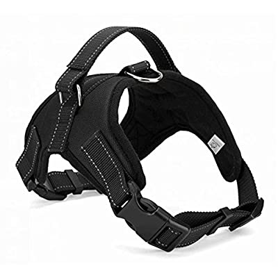 Dog Harness No Pull with handle, Reflective Adjustable Vest Harness for Small/Medium/Large dogs from WIGGLE TAIL