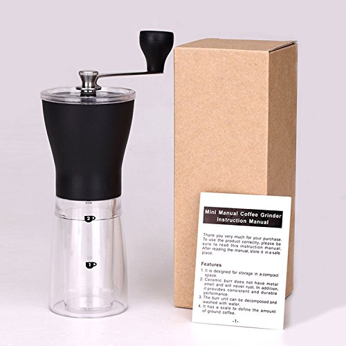 Manual Coffee Grinder,Spices Miller,Mini Portable Washable ABS+PC Material Stainless Steel Ceramic Core Kitchen Handhold Coffee Grinder (Coffee Grinder Small)