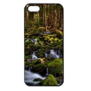 CaseSuper Sol Duc River Natures Designs Apple iPhone 5S Seamless Case (Black)