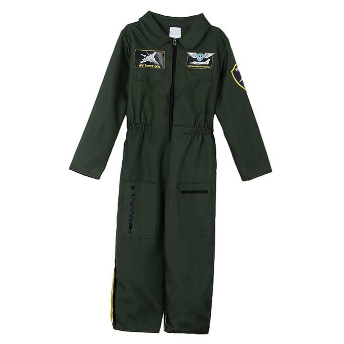 IPOTCH Traje de Niños Fuerza Aérea Traje de Piloto Halloween ...
