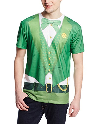 Faux Real Men's Lucky Leprechaun Short Sleeve T-Shirt,