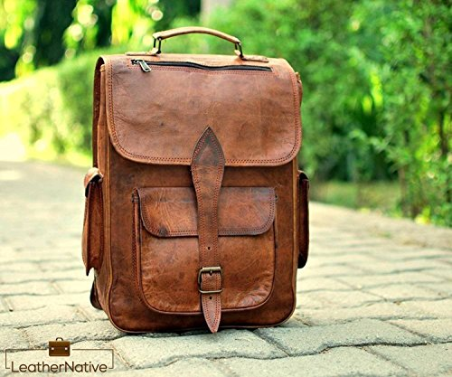 Genuine Leather Backpack Bag Handbag - Handmade Genuine Leather Backpack Laptop Bag for Men Women Gift for him her Saddlebags Pre Valentines Day Special Sale!