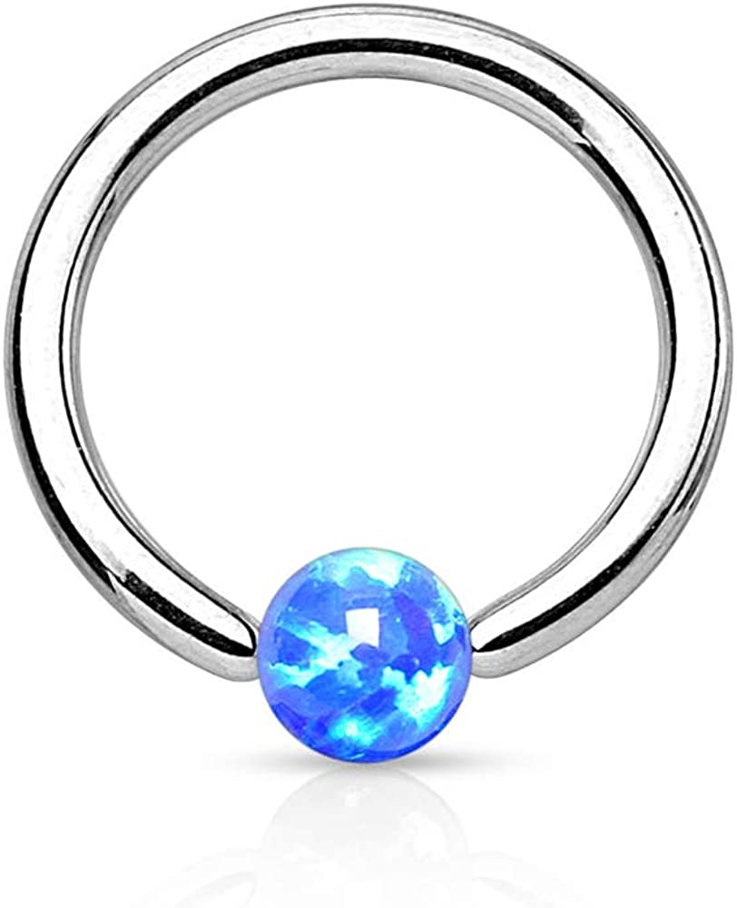 Dynamique Synthetic Opal Ball 316L Surgical Steel Captive Bead Ring (Sold PER Piece)