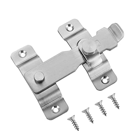 Beau JQK Flip Door Latch, Heavy Duty Stainless Steel Bar Gate Latches Safety Door  Lock,