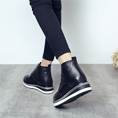 leather zipper with the in shoes the cotton the end NSXZ layer women first of pointed BLACK of boots velvet boots Martin 90160CM plus side The wWqHApPW6I