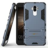 Heartly Huawei Mate 9 Back Cover Graphic Kickstand Hard Dual Rugged Armor Hybrid Bumper Case - Navy Black