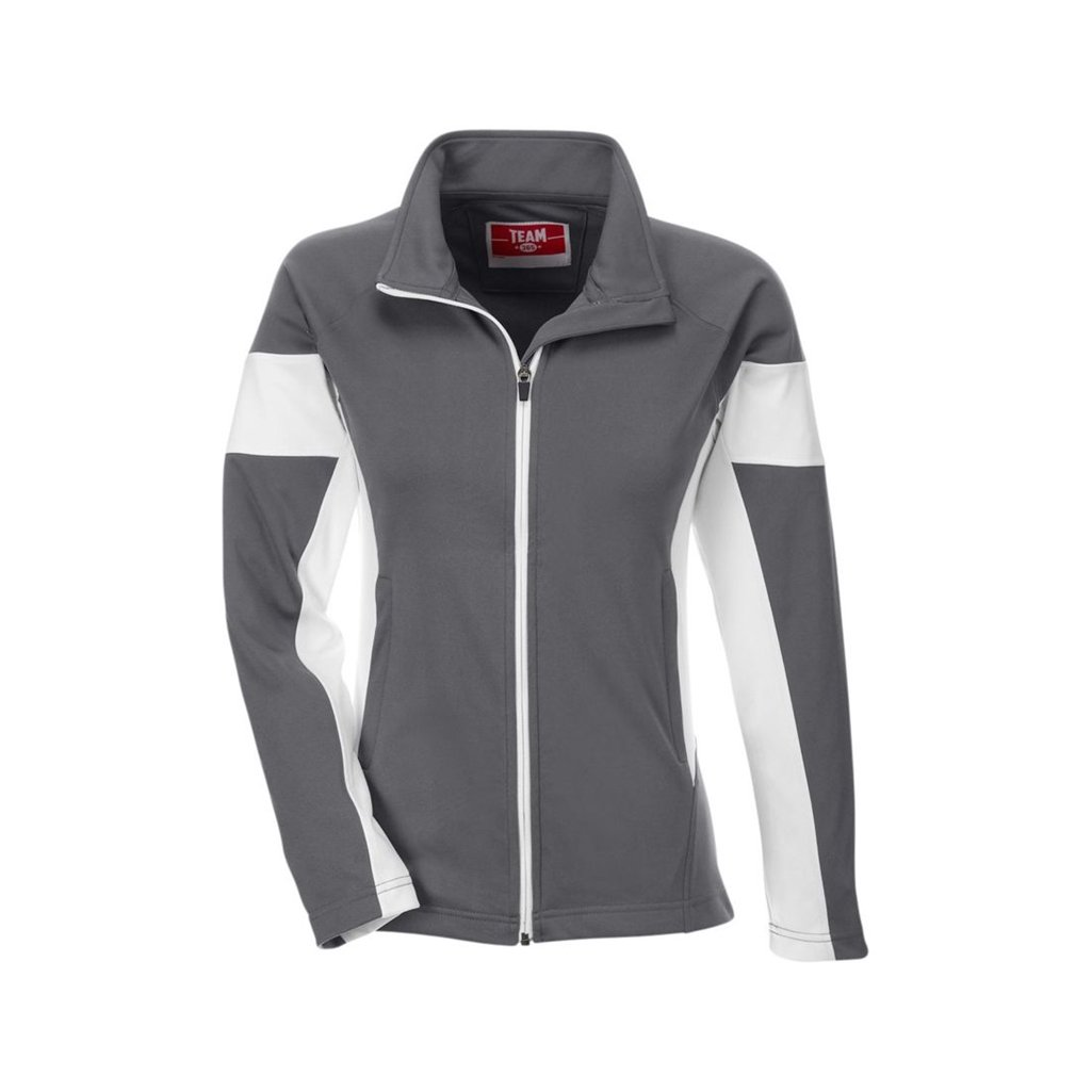 Team 365 Ladies Elite Performance Full-Zip (XX-Large, Sport Graphite/White) by Ash City Apparel