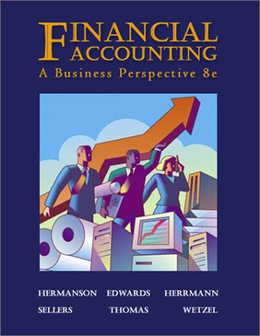 Financial Accounting: A Business Perspective (8th Edition)