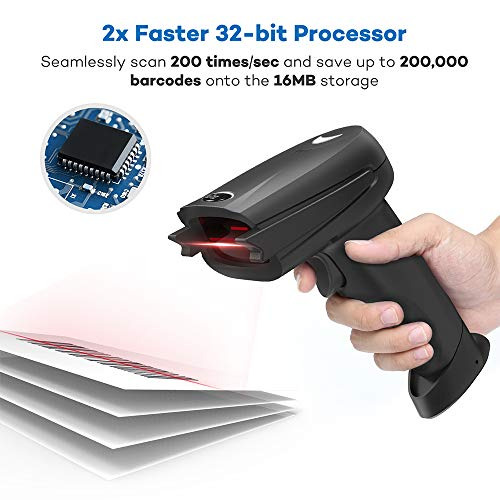 Barcode Scanner HooToo Bluetooth Wireless Bar Code Scanner with 32-bit Processor, 16MB Internal Storage, 750mAh Battery Compatible with Common System by HooToo (Image #4)