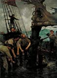 The Perfect Effect Canvas Of Oil Painting 'Henry Scott Tuke - All Hands To The Pumps,1888-1889' ,size: 16x22 Inch / 41x56 Cm ,this Imitations Art DecorativeCanvas Prints Is Fit For Laundry Room Gallery Art And Home Decoration And Gifts