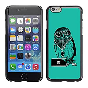 GagaDesign Phone Accessories: Hard Case Cover for Apple iPhone 6 Plus 5.5 Inch - Cool Party DJ Owl